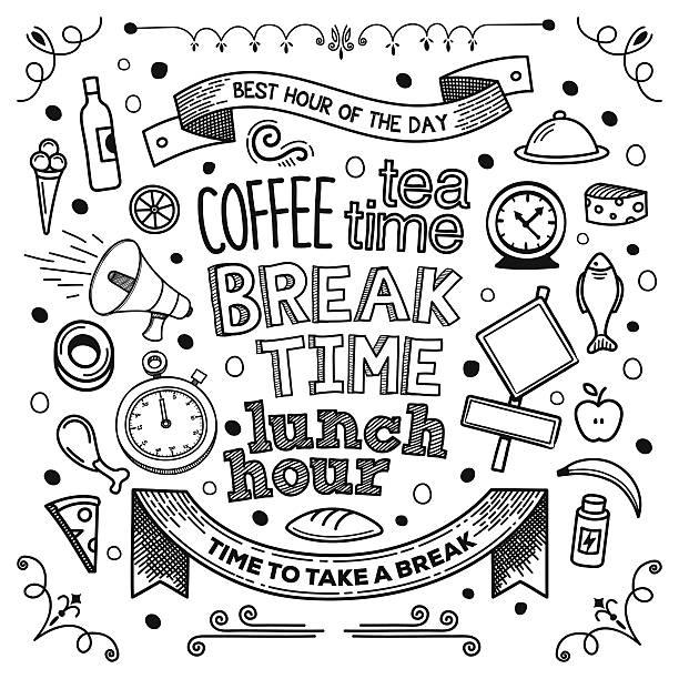 Break Time vector art illustration
