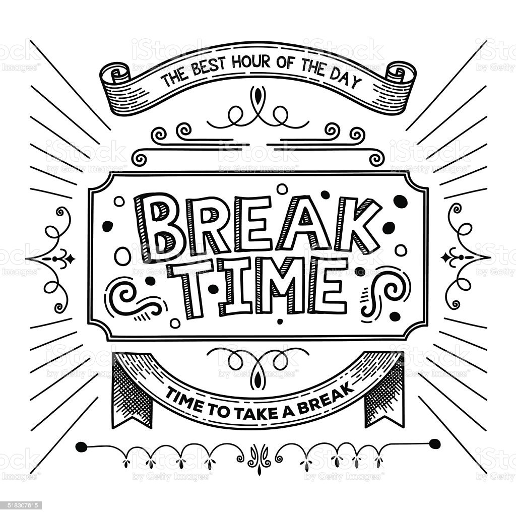 Break Time Royalty Free Stock Vector Art Amp More Images Of Alertness