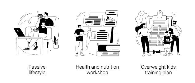 Break unhealthy habits abstract concept vector illustrations.