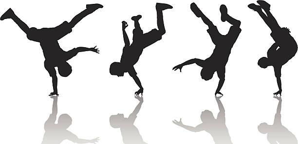 bildbanksillustrationer, clip art samt tecknat material och ikoner med breakdancers - street dance