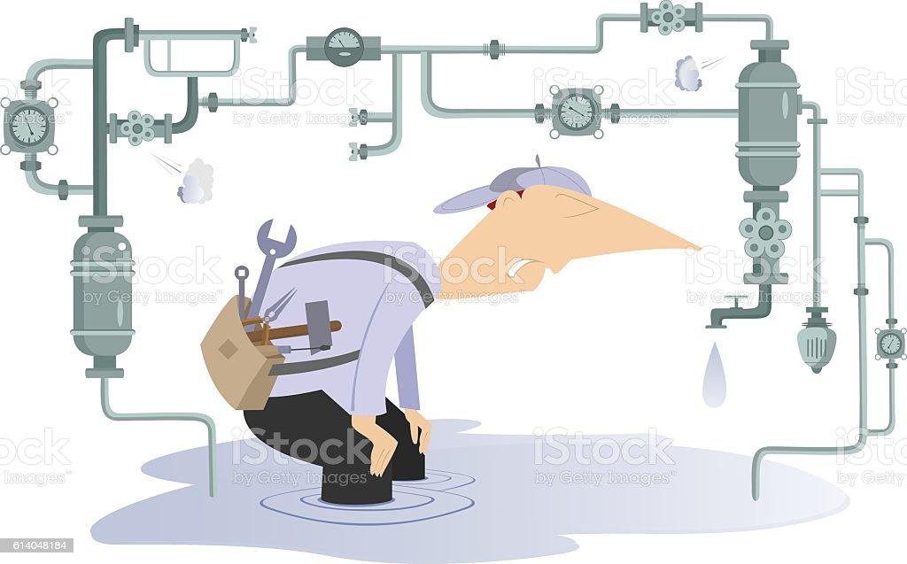 Breakdown vector art illustration