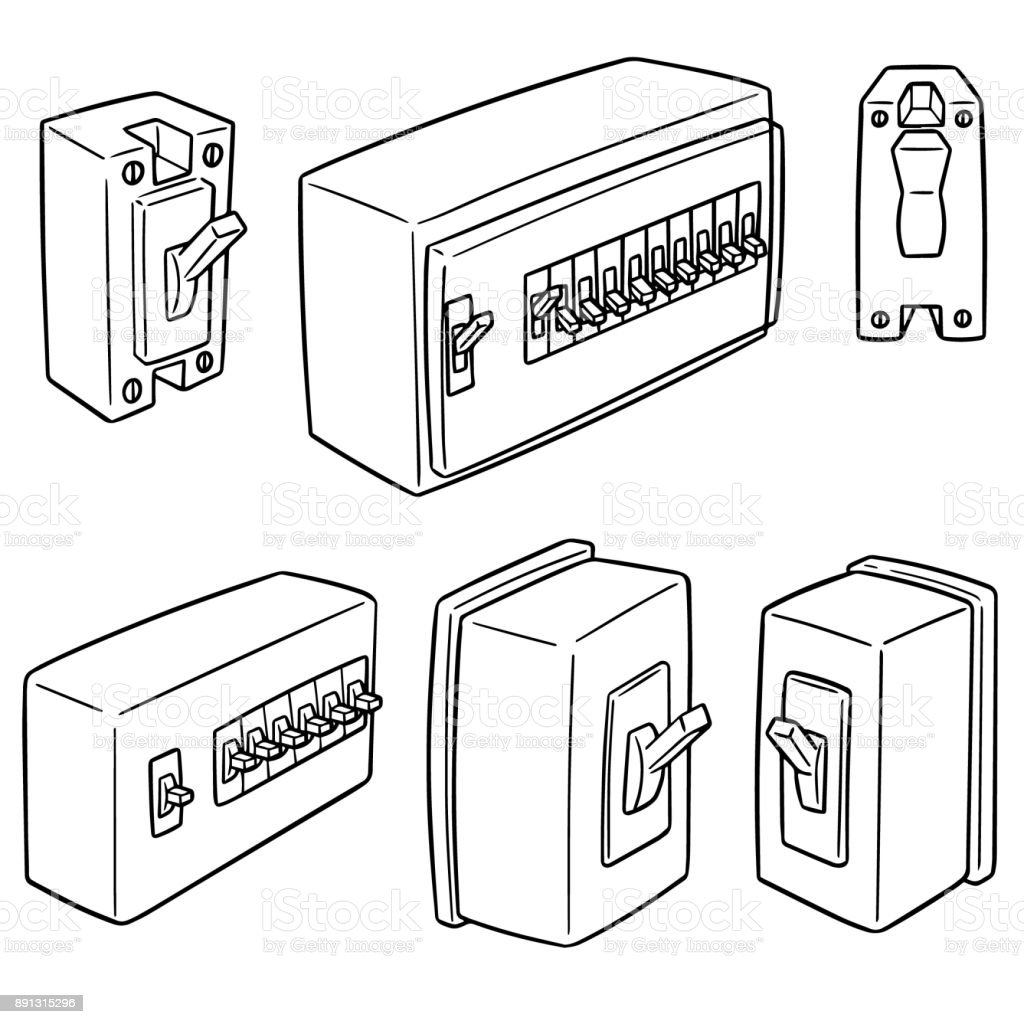 Royalty Free Electrical Panel Clip Art, Vector Images