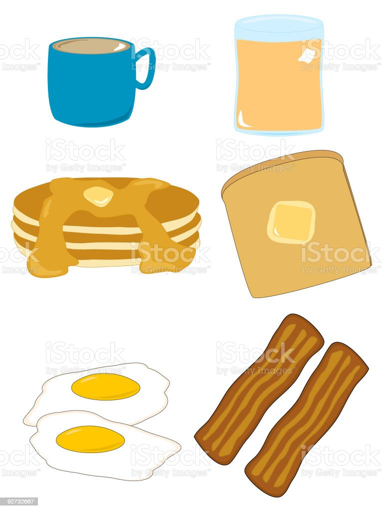 Breakfast Assortment royalty-free stock vector art