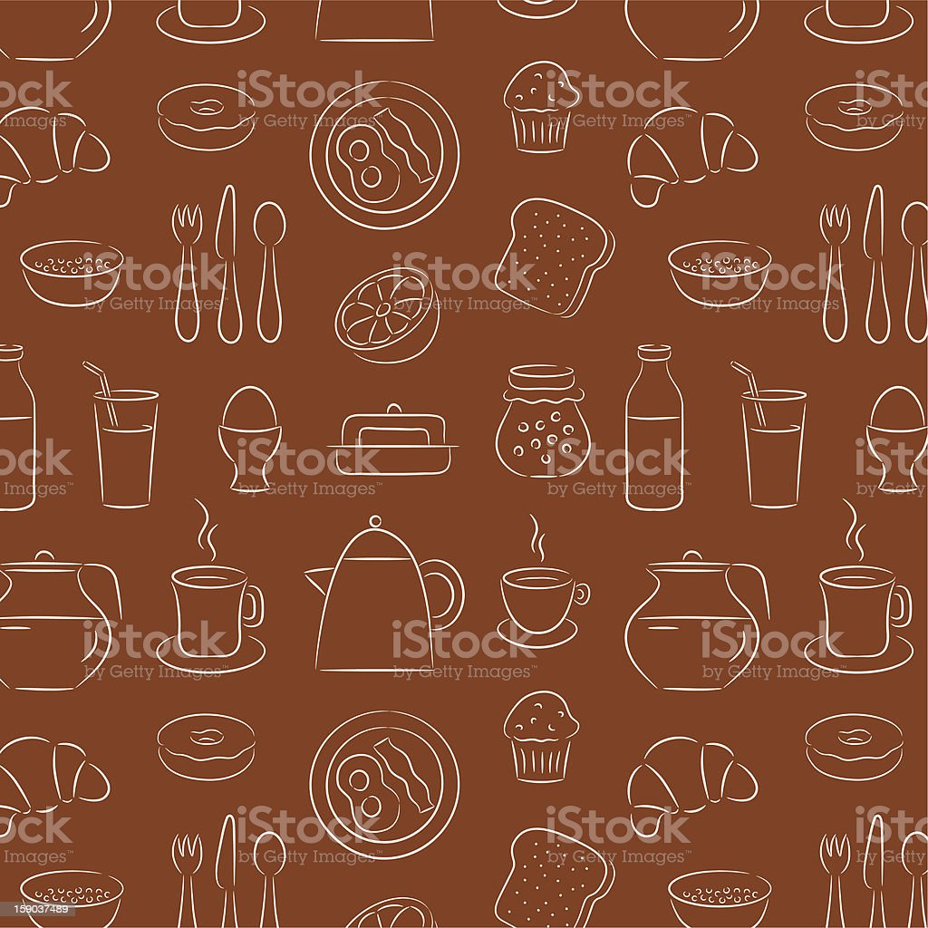 Breakfast Background royalty-free stock vector art