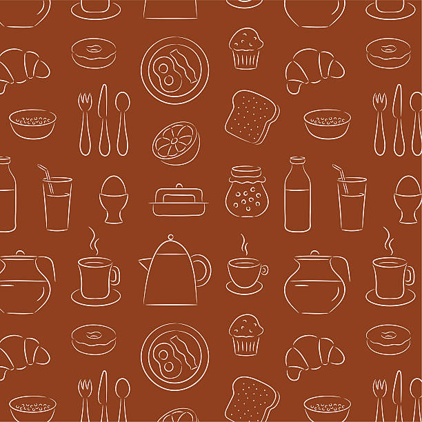 illustrations, cliparts, dessins animés et icônes de fond de petit déjeuner - infusion pamplemousse