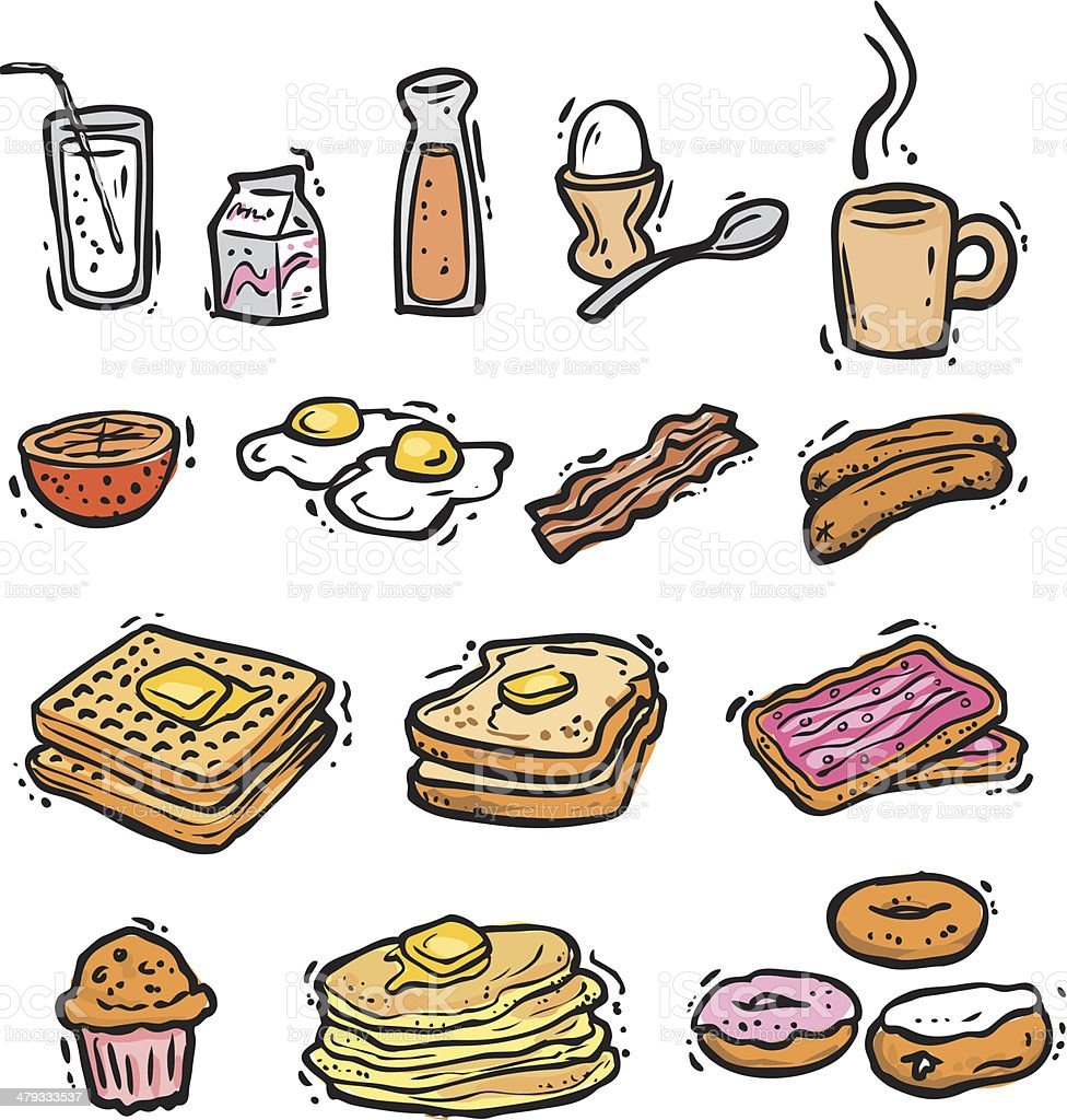 Breakfast Bonus Pack (vectors) vector art illustration
