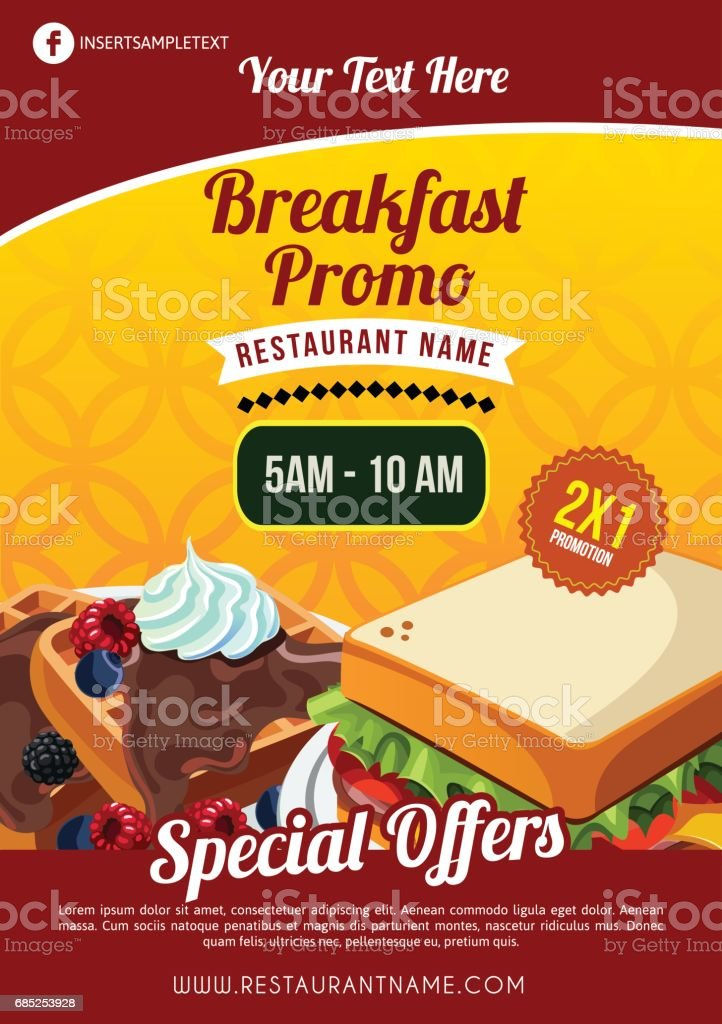 breakfast brochure template stock vector art more images of