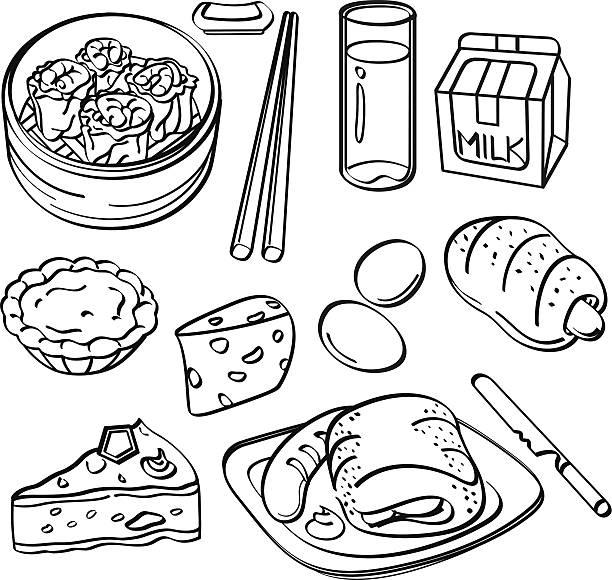Royalty Free Egg Tart Clip Art, Vector Images