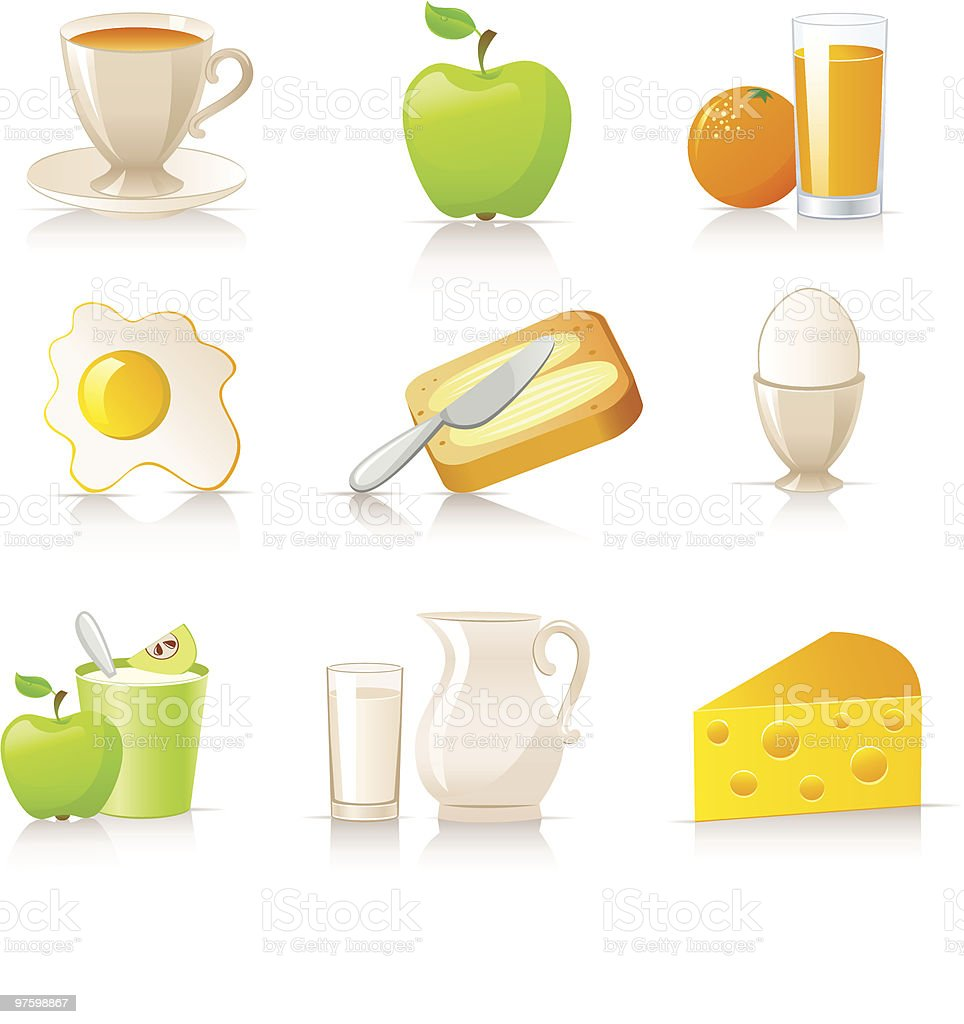 breakfast collection royalty-free breakfast collection stock vector art & more images of apple - fruit