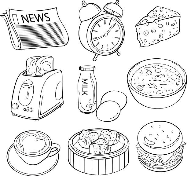 Breakfast Element vector art illustration