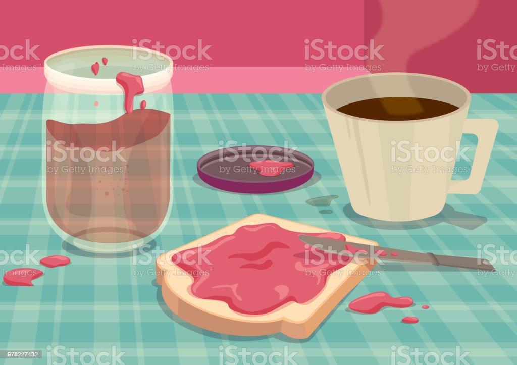Breakfast Face vector art illustration