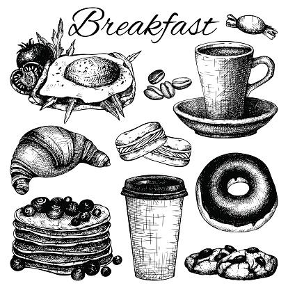 breakfast food illustration