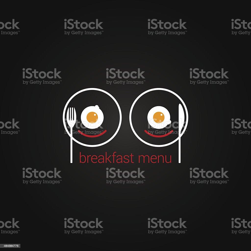 breakfast food scrambled menu design backgraund vector art illustration
