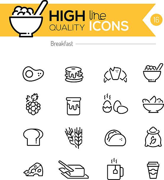 ilustrações de stock, clip art, desenhos animados e ícones de série de ícones de pequeno-almoço - manteiga
