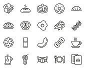 istock Breakfast Icons Thin Line Set Big 1198187346