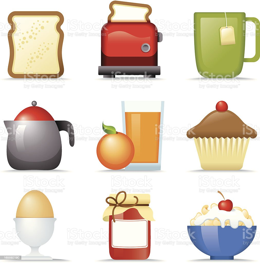 Breakfast ICONS royalty-free stock vector art