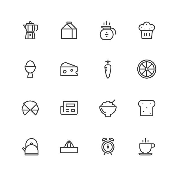 frühstück symbol  - tassenkuchen stock-grafiken, -clipart, -cartoons und -symbole