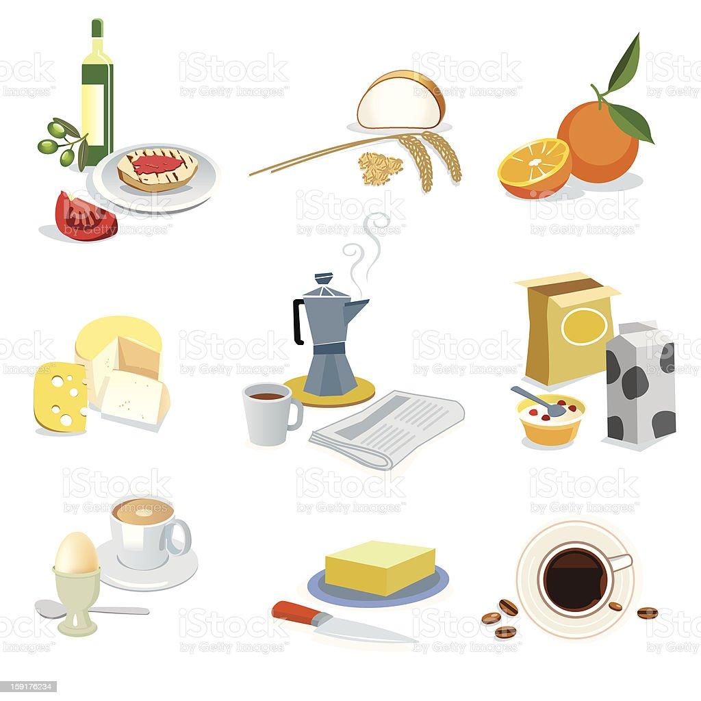 Breakfast Ingredients Set royalty-free breakfast ingredients set stock vector art & more images of bread