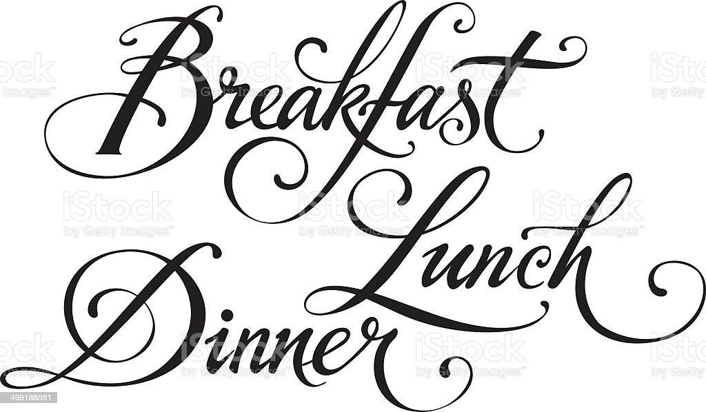 Breakfast Lunch Dinner Stock Illustration - Download Image ...