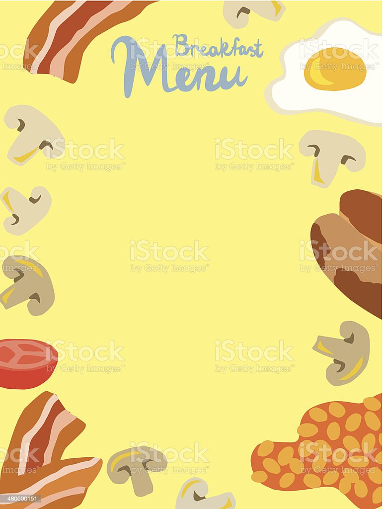 breakfast menu template stock vector art more images of bacon