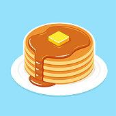 istock Breakfast pancakes illustration 928142004