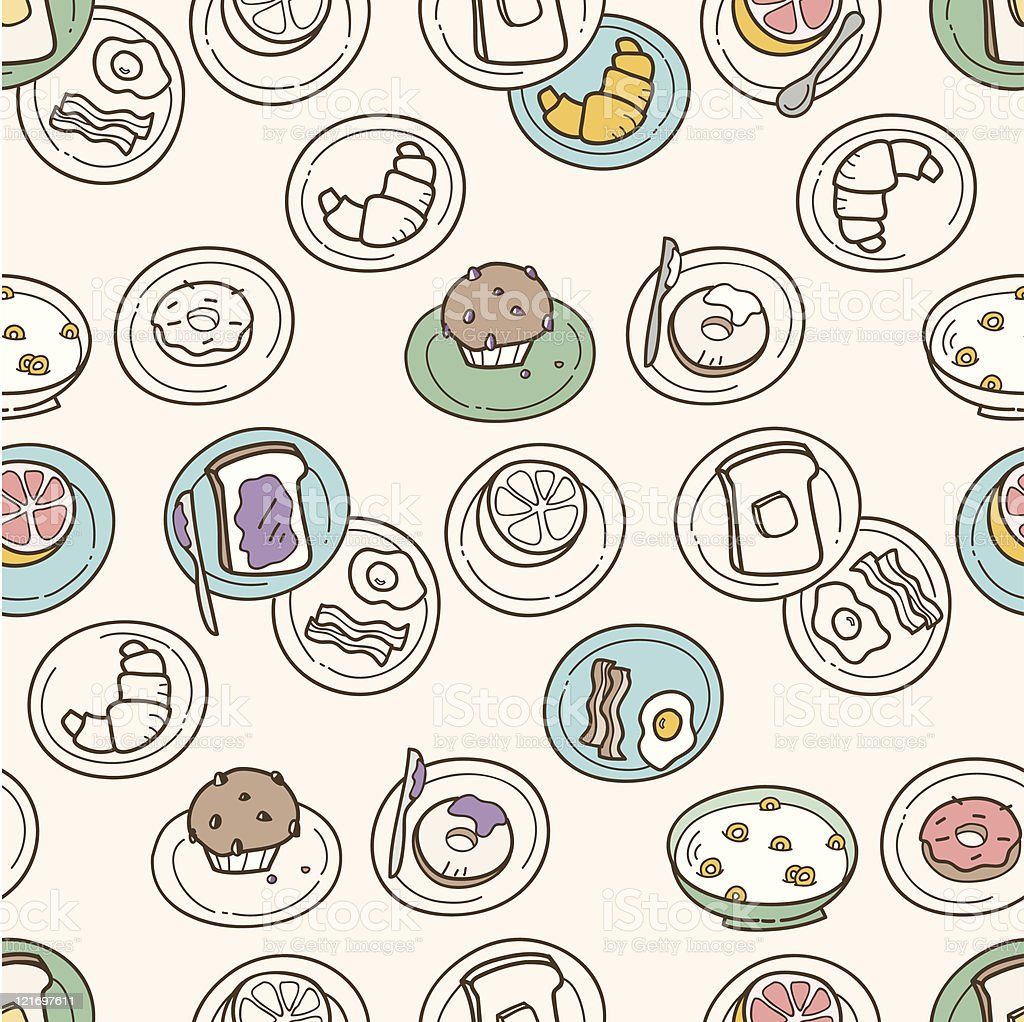 Breakfast Pattern royalty-free stock vector art