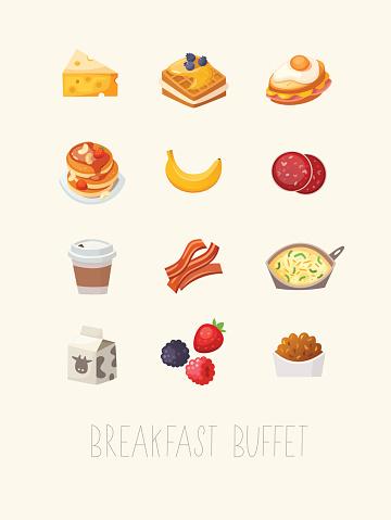 Breakfast poster illustration