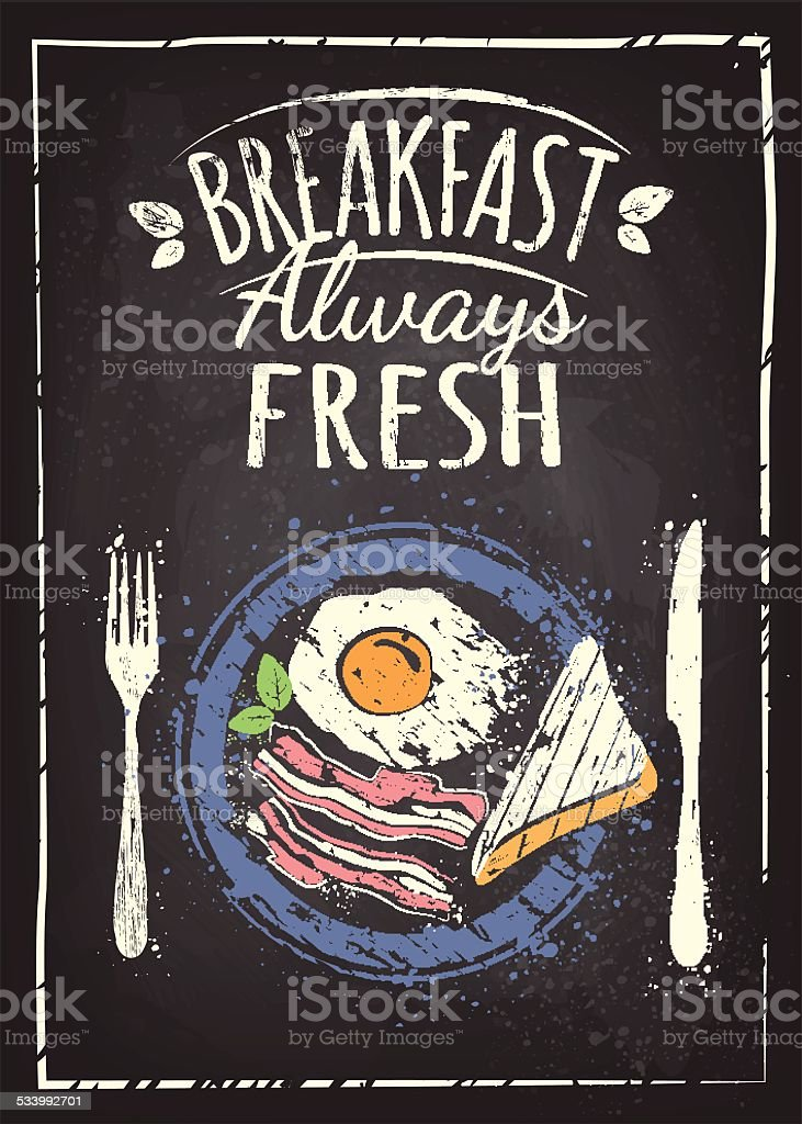 Breakfast Poster vector art illustration