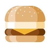 istock Breakfast Sandwich Icon on Transparent Background 1284287646