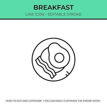 Breakfast Single Line Icon