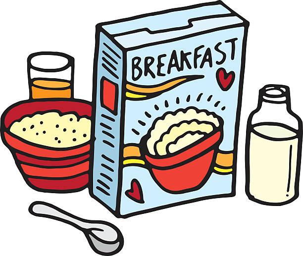 Frühstück Skizze – Vektorgrafik
