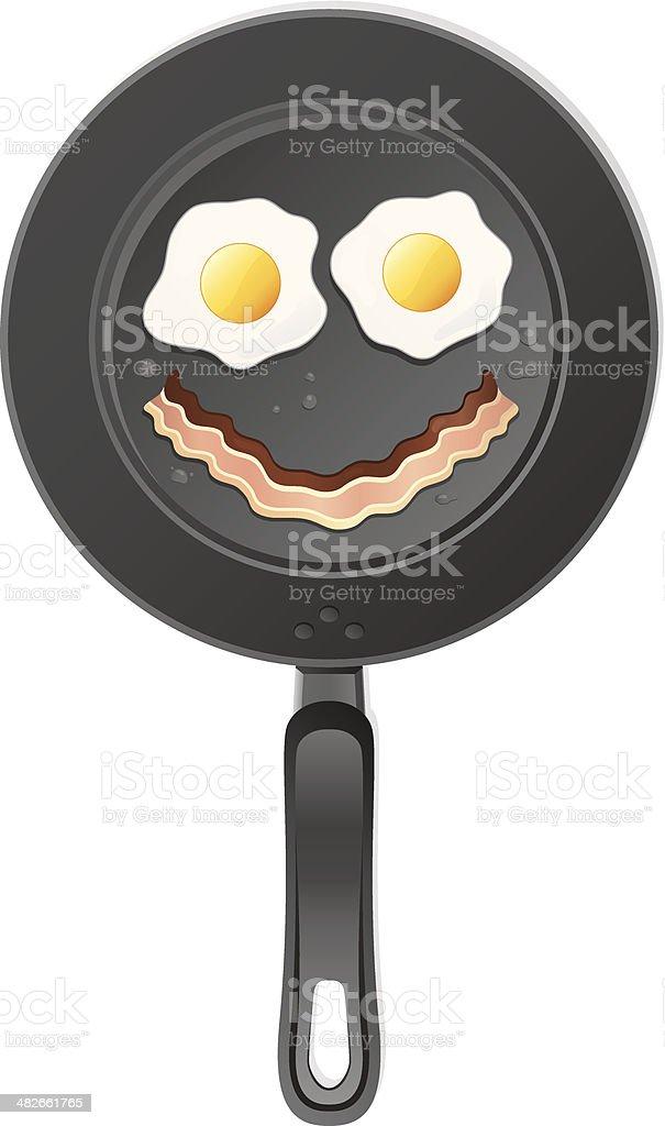 Breakfast Smiley Face royalty-free stock vector art
