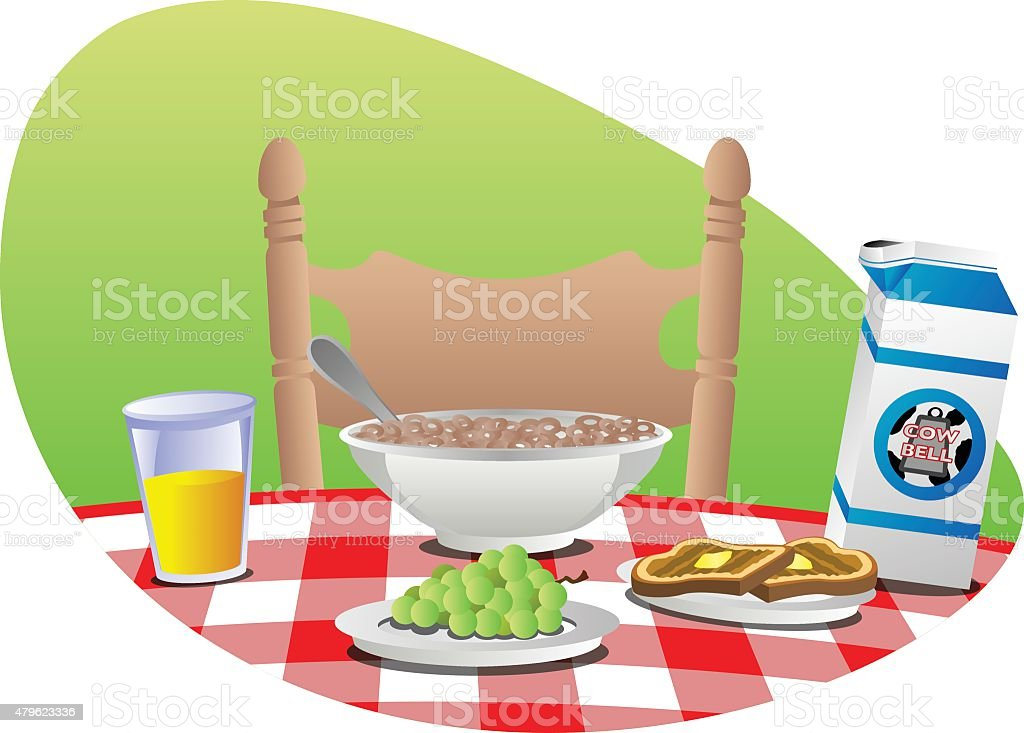 Breakfast Table royalty-free breakfast table stock vector art & more images of bowl