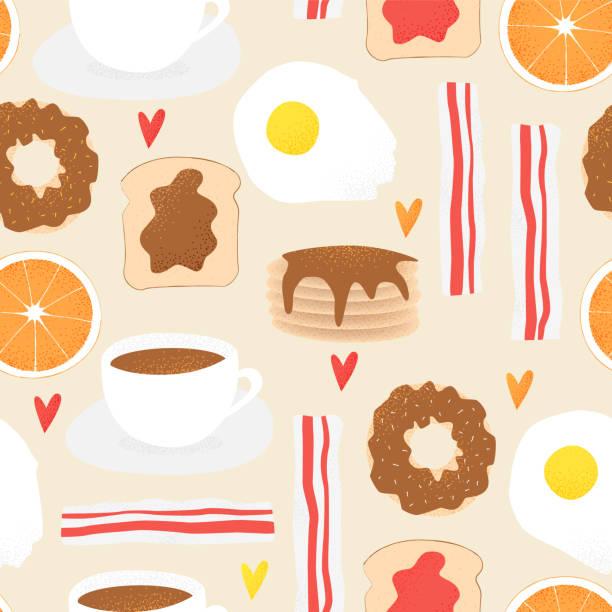 Breakfast vector concept, brunch illustration vector art illustration