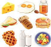 Vector illustration of breakfast set for your web page, interactive, presentation, print, and all sorts of design need.