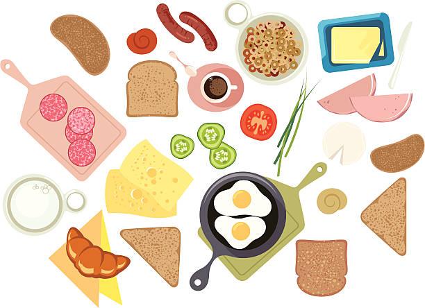 Śniadanie. – artystyczna grafika wektorowa