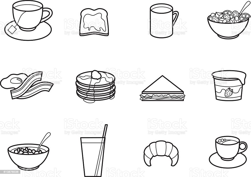 Breakfast royalty-free breakfast stock vector art & more images of bacon
