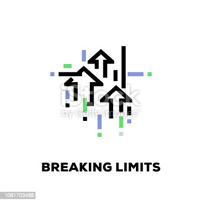 Breaking Limits Line Icon
