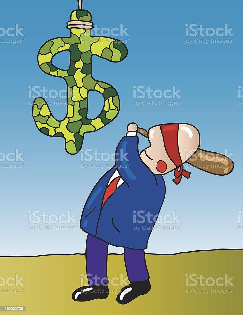 breaking money pinata royalty-free stock vector art