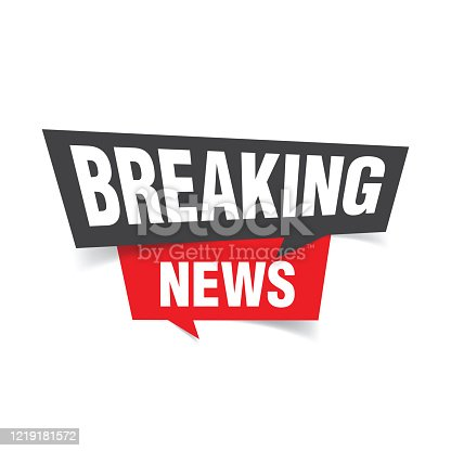 Breaking news background stock illustration