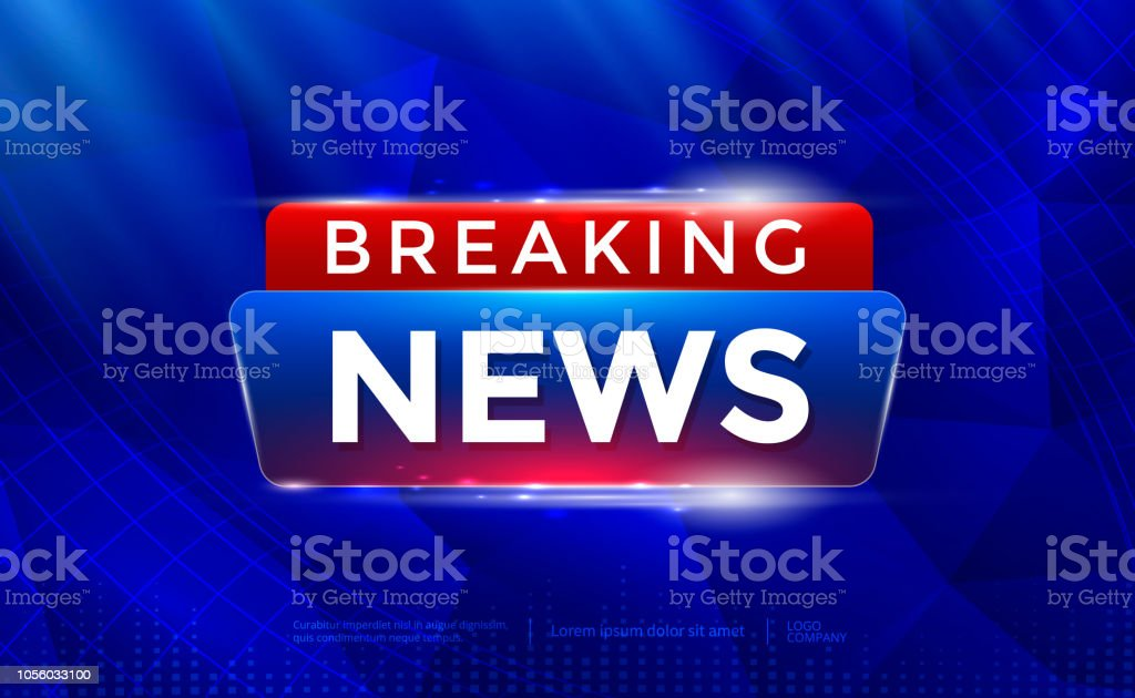 Breaking News Background Stock Illustration - Download Image Now