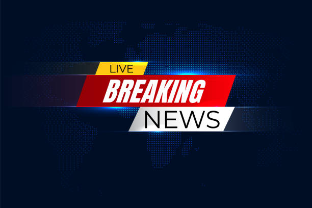 Breaking news background with graphic map Breaking news background with graphic map publicité stock illustrations