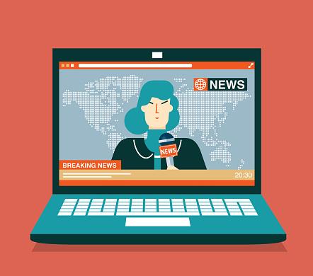 Breaking news - Businesswoman