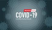 Vector of Coronavirus COVID-19 outbreak warning sign background.