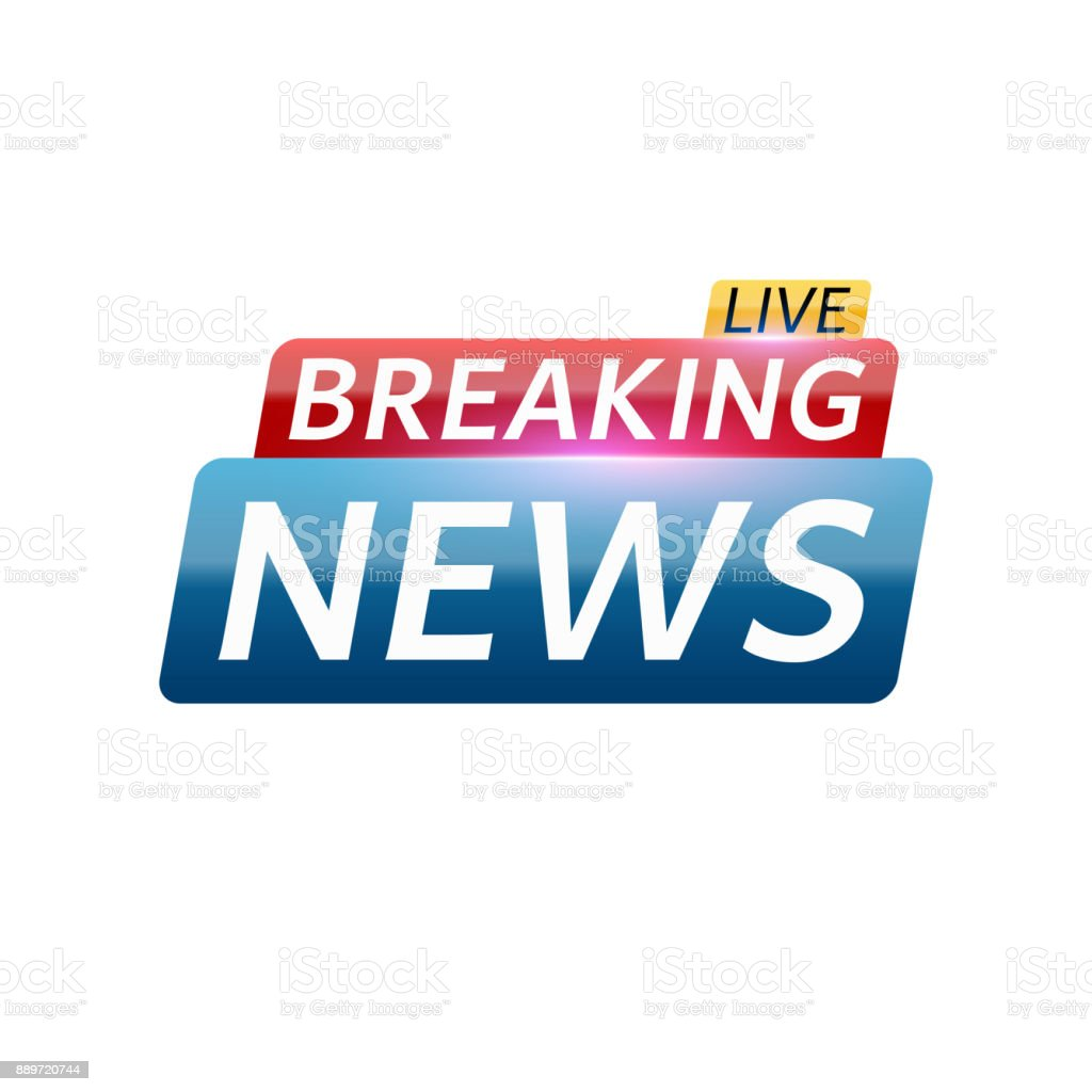 Breaking News Live Abstract Red Blue Banner With White Text Background