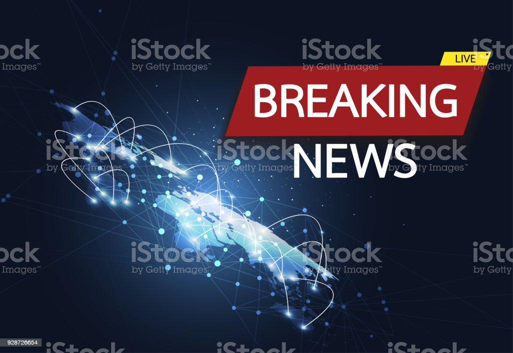 Breaking news live on world map connection background business breaking news live on world map connection background business technology concept vector illustration royalty gumiabroncs Images