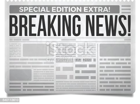Breaking News Newspaper Stock Vector Art & More Images of ...