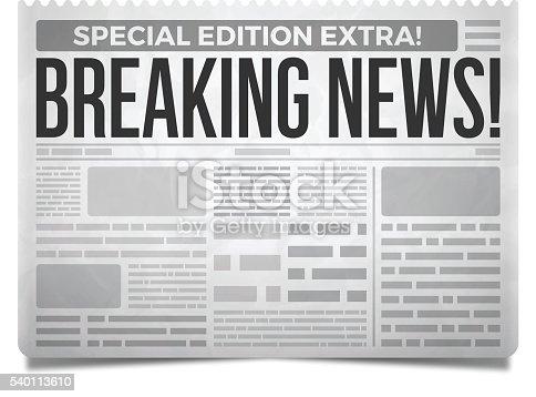 breaking news newspaper stock vector art amp more images of