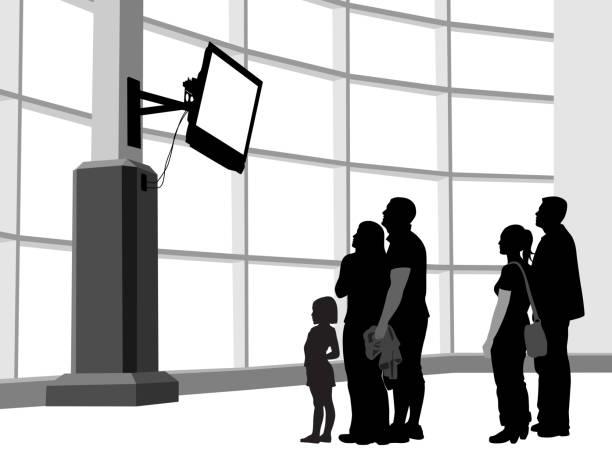 ilustrações de stock, clip art, desenhos animados e ícones de breaking news shock - tv e familia e ecrã