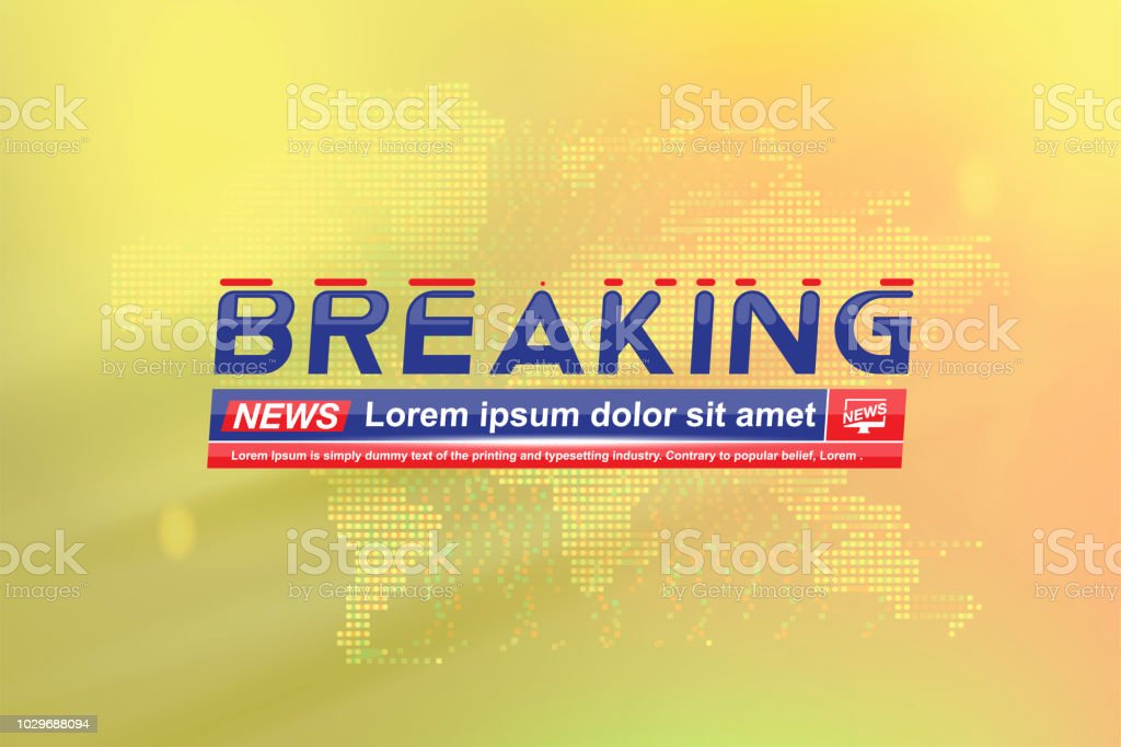 Breaking News Template Title With Technology World Map On The